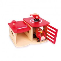 Small Foot Company 2730 - Feuerwehrwache aus Holz
