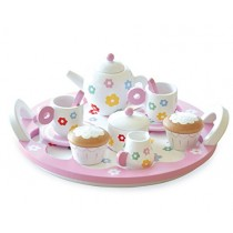Indigo Jamm KIJ10052 Flower Tea Party - Kindergeschirr aus Holz