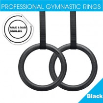 Excelvan ABS Gym Olympic Gymnastikringe Turnringe Crossfit Gymnastik Ring Fitness Ringe + Seil