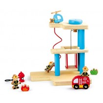 Small Foot Company 8562 - Feuerwehrstation aus Holz